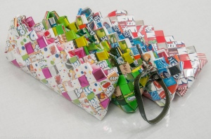 Four candy purses white bg