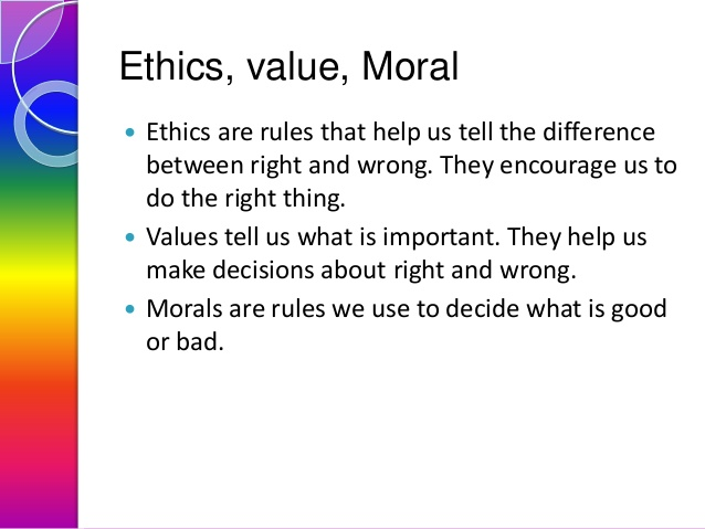 blog ethics values and morals
